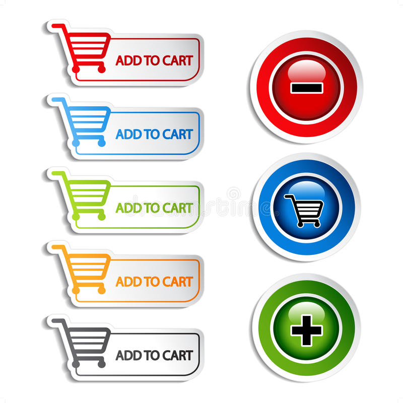 Download Vector Add Delete Shopping Cart Item Stock Vector - Image: 21033627