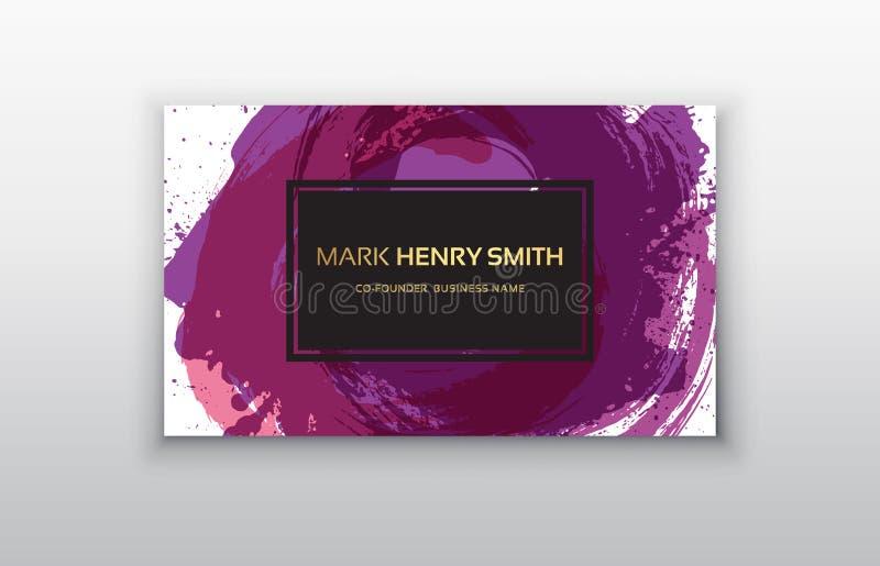 Vector adreskaartje Het ontwerp van het luxeadreskaartje stock illustratie