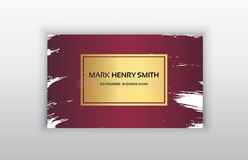 Vector adreskaartje Het ontwerp van het luxeadreskaartje royalty-vrije illustratie