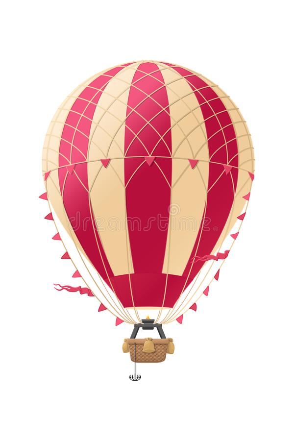 Vector aerostat hot balloon. Graphic object. Vector aerostat hot balloon vintage air object. Retro graphic pattern vector illustration