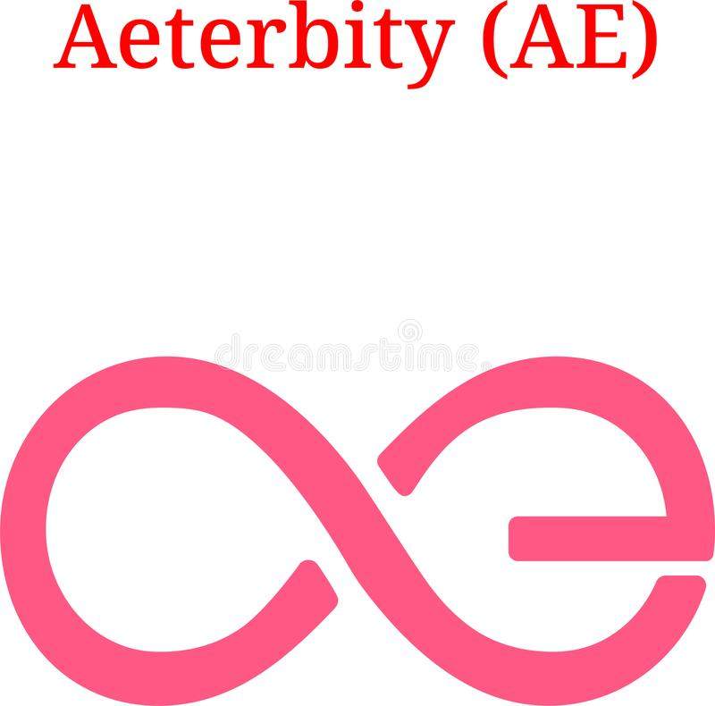 Vector Aeternity AE logo royalty free illustration