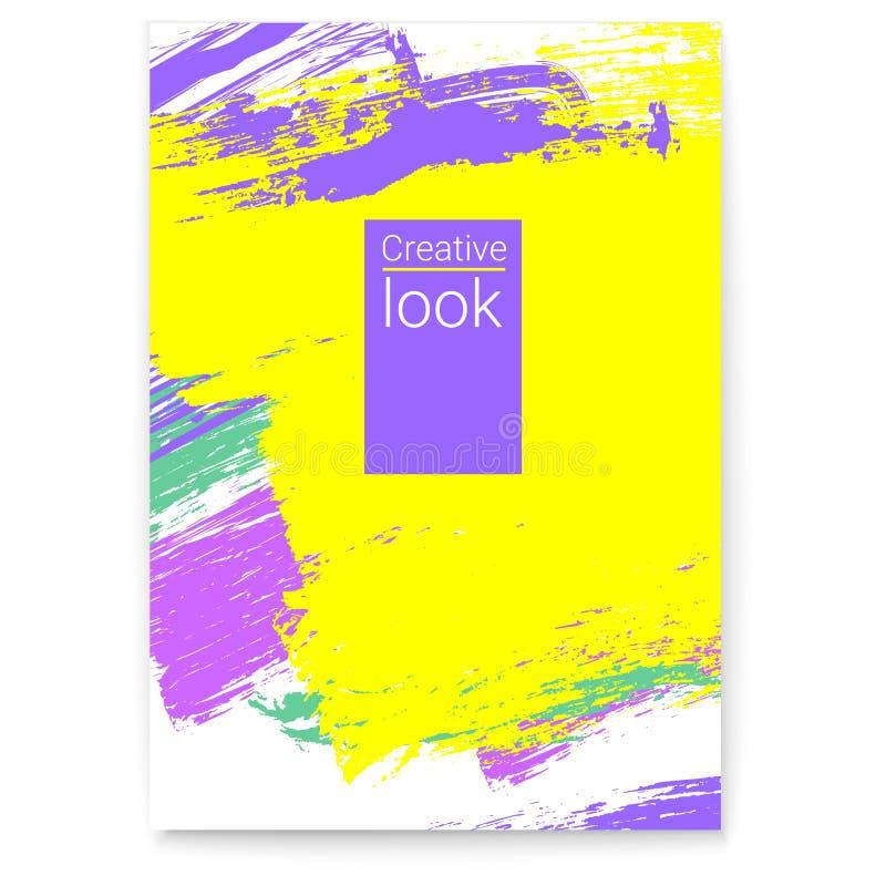 Vector affiche De zomer kleurrijk ontwerp voor vlieger, dekking, uitnodiging Modieuze geometrische gekleurde achtergrond met mult stock illustratie