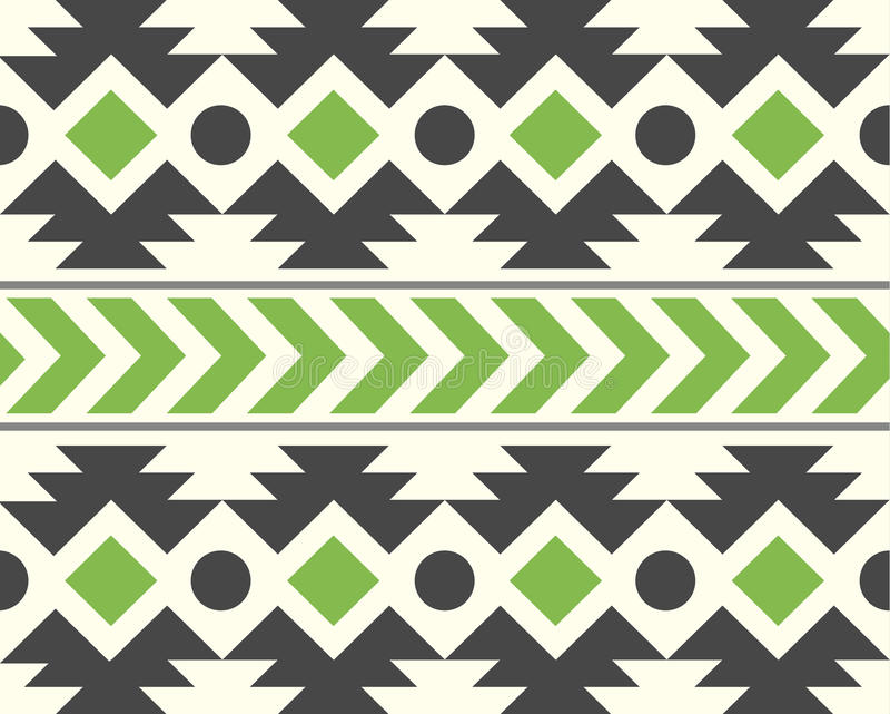 Vector African Ethnic Pattern Natural Background Illustration stock illustration
