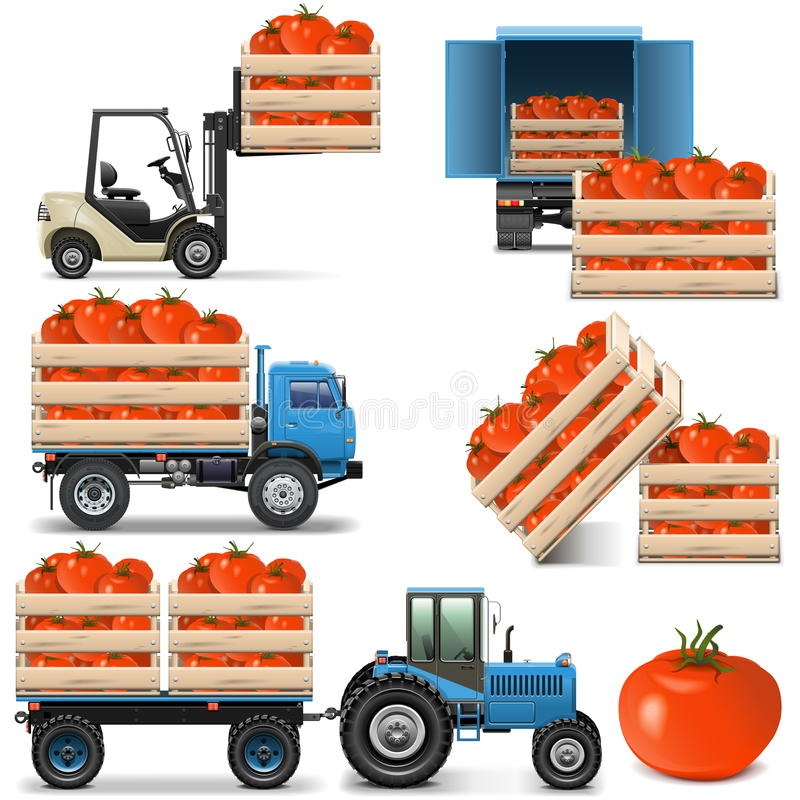 Free Vector Agricultural Icons Set 2 Stock Photos - 40860293