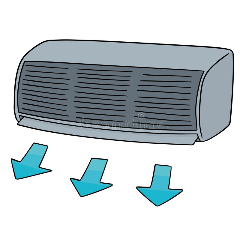 Vector of air conditioner. Hand drawn cartoon, doodle illustration stock illustration