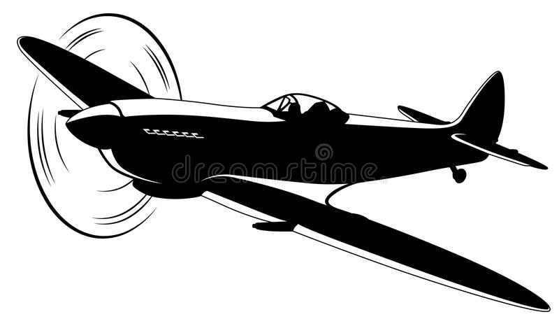 Vector airplane royalty free illustration