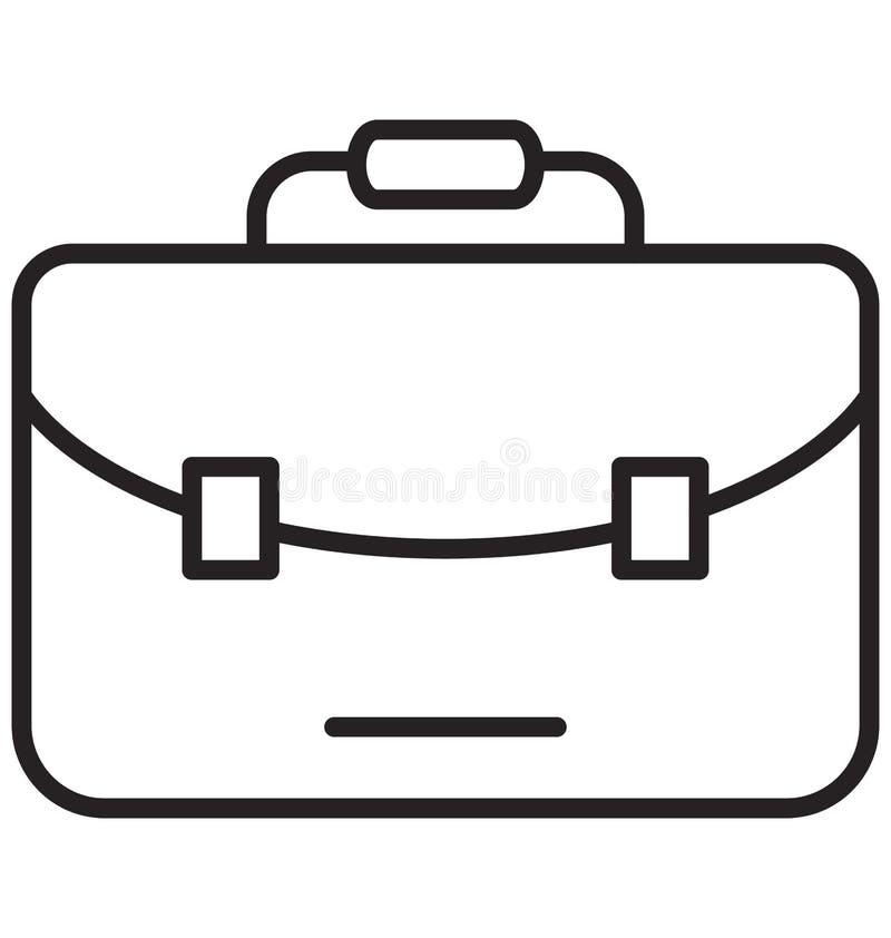 Vector aislado bolso de la cartera con la línea y el icono del terraplén libre illustration