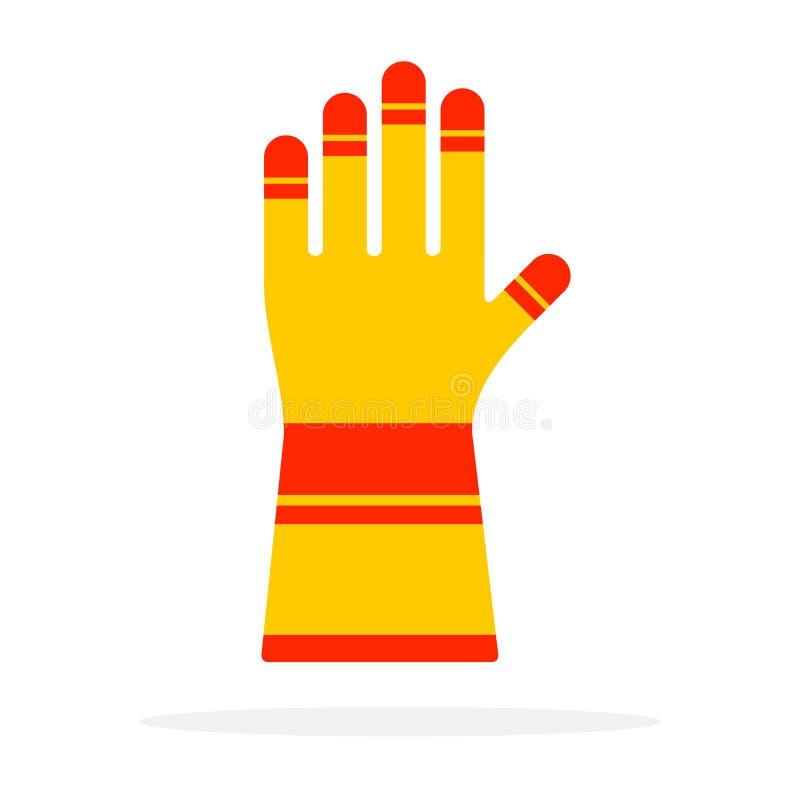 Vector aislado de guantes de trabajo de protección ilustración del vector