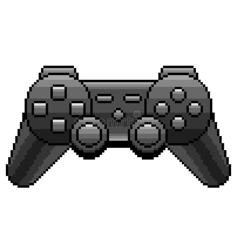 Vector aislado detallado videoconsola negra del pixel ilustración del vector