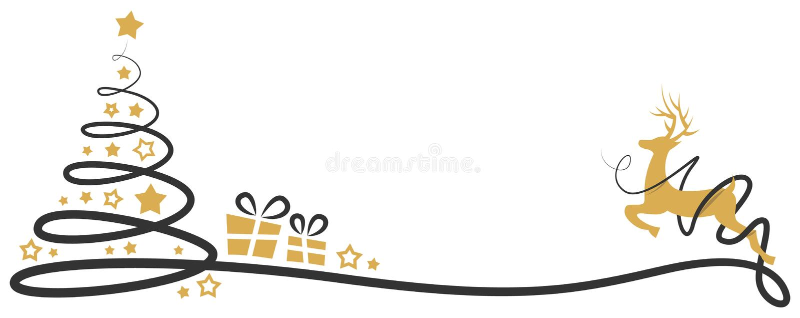 Vector aislado dibujo del vector del árbol de navidad ilustración del vector