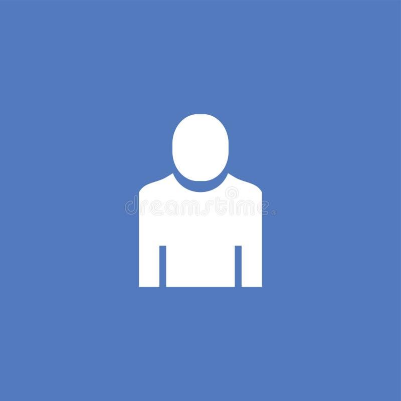 Vector aislado ejemplo del icono del hombre stock de ilustración