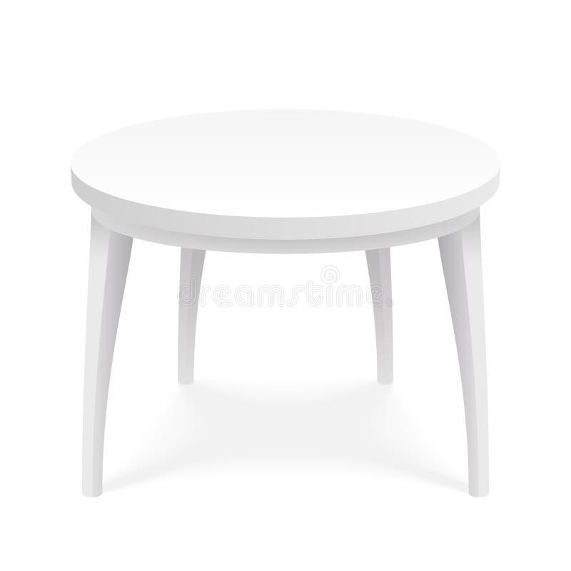 Vector aislado superior isométrico del diseño de la plantilla 3d de la presentación del objeto del producto de la mesa redonda de ilustración del vector