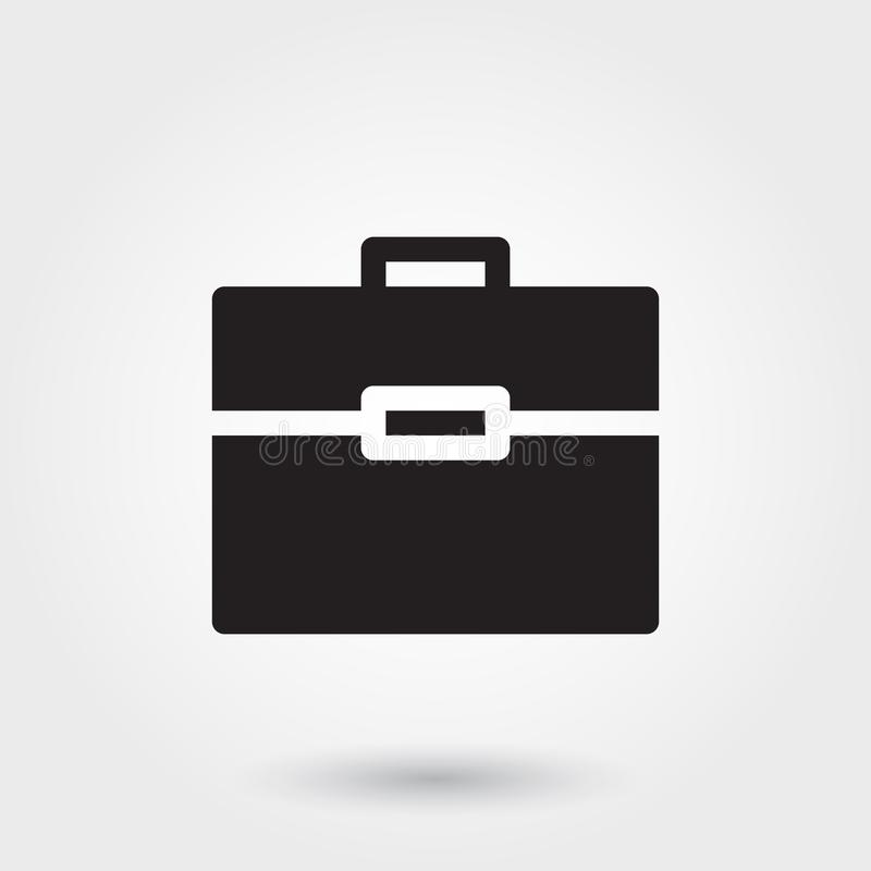 Vector, Aktentaspictogrammen, Glyph-Pictogram voor om het even welke doeleinden perfect voor website stock illustratie