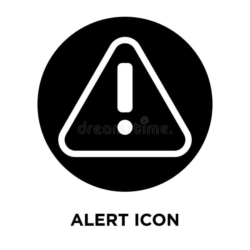 Vector alerta del icono aislado en el fondo blanco, concepto del logotipo de libre illustration