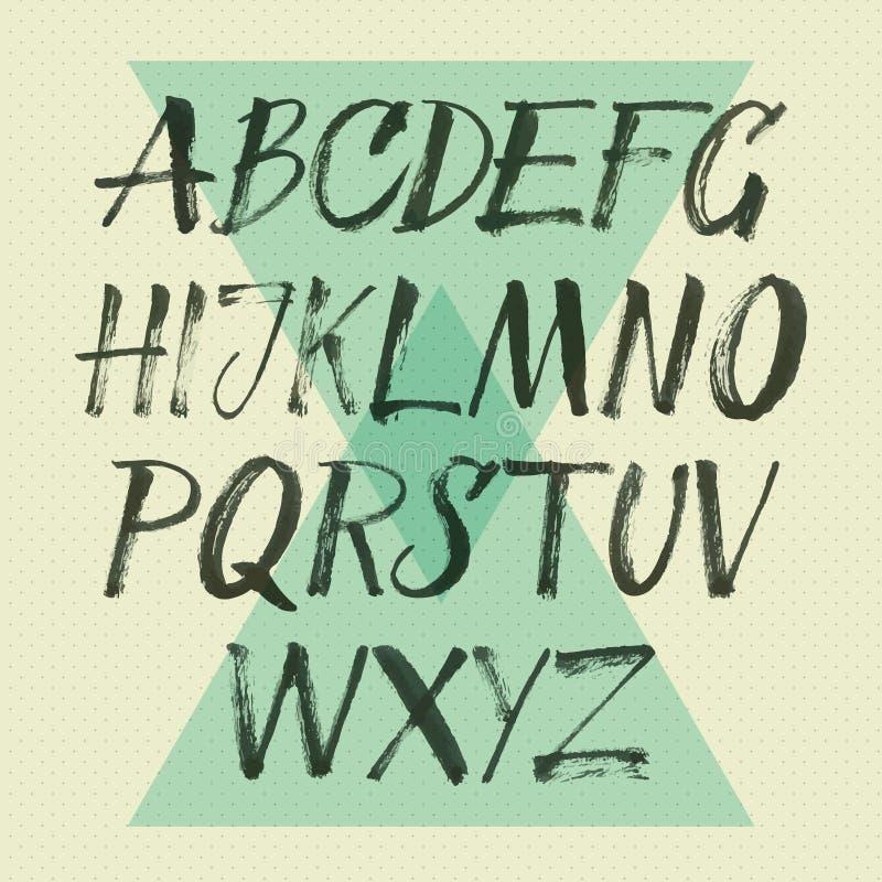 Vector alfabet royalty-vrije illustratie