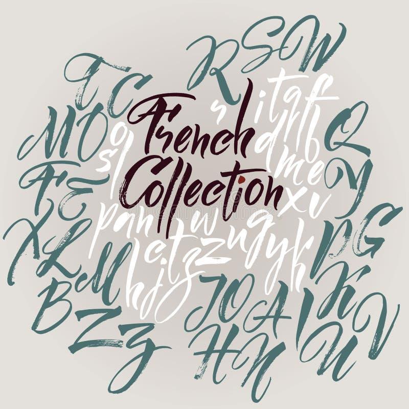 Vector alfabet Hand getrokken brieven royalty-vrije illustratie