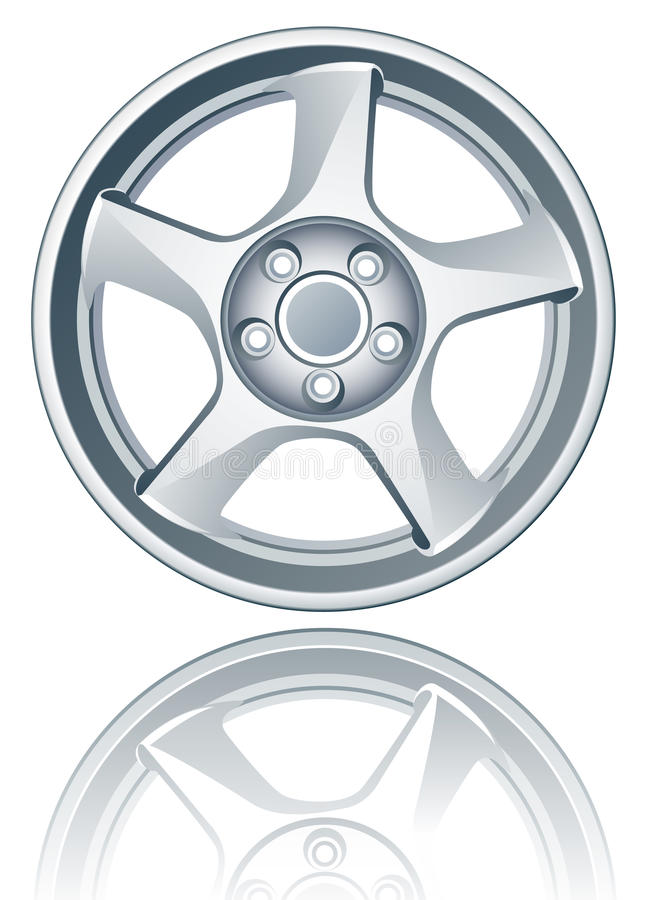 Download Vector Alloy Wheel. Stock Images - Image: 11134804