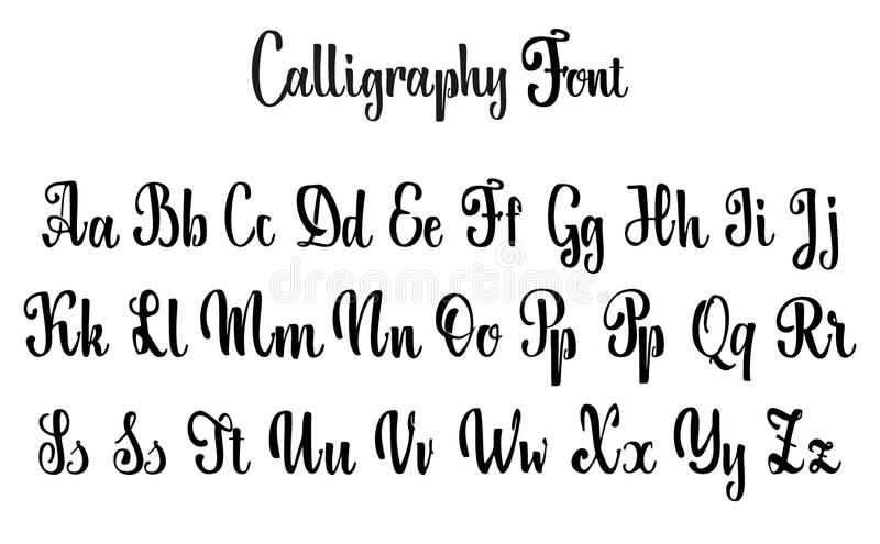 Calligraphic Font Unique Custom Characters Hand Lettering For Designs