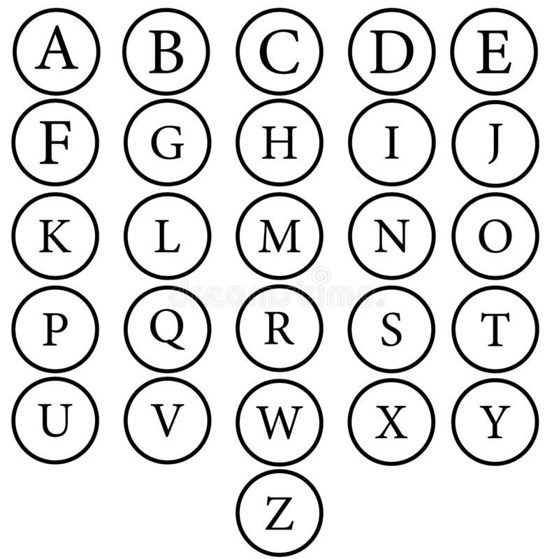 Vector alphabet. Hand drawn letters. Letters of the alphabet written with a brush. vector illustration
