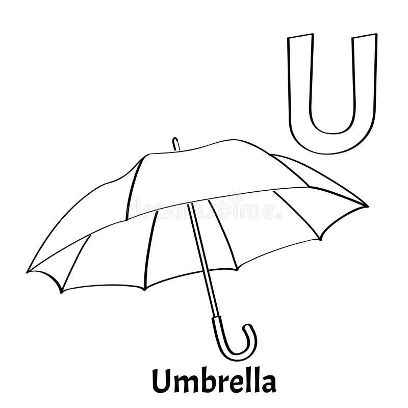 Download Vector Alphabet Letter U Coloring Page Umbrella Stock