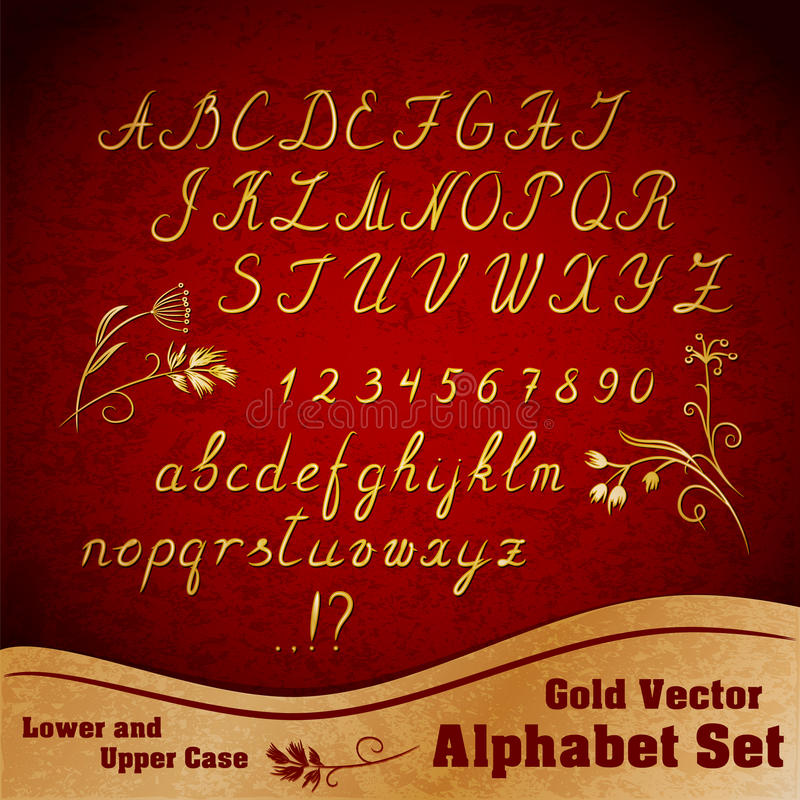 Vector Alphabet Set Stock Photos