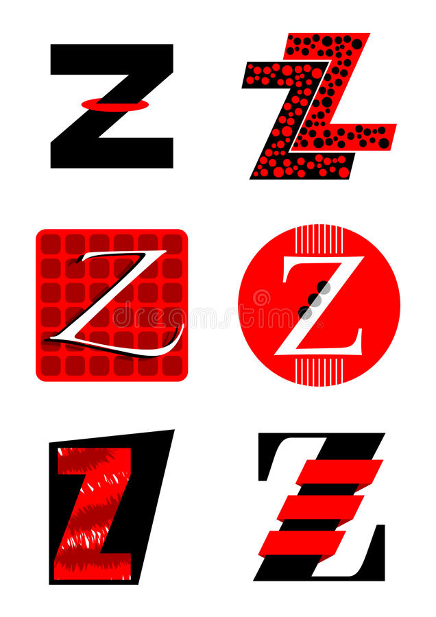 Vector alphabet Z logos and icons vector illustration