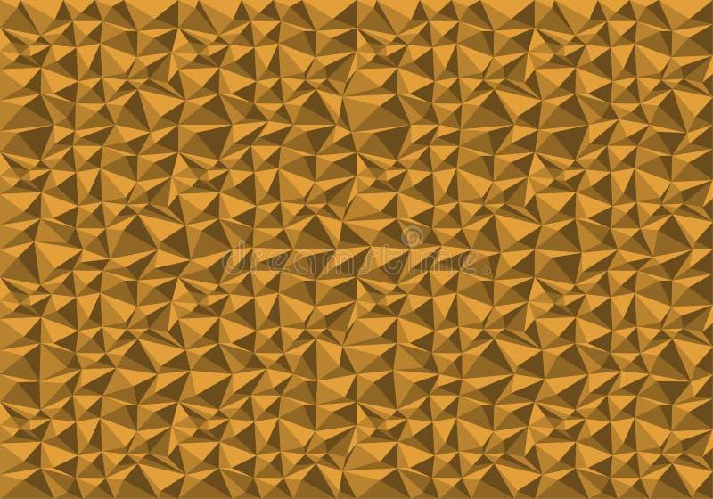 Vector amarillo abstracto de la textura del fondo del modelo del polígono stock de ilustración