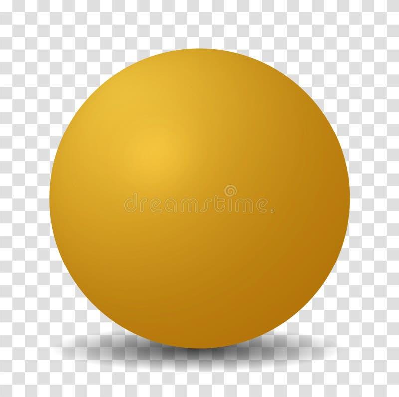 Vector amarillo de la esfera stock de ilustración