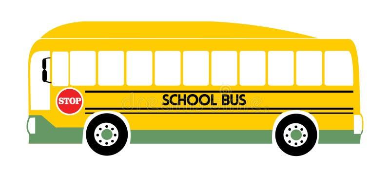 Vector amarillo del ejemplo del autob?s escolar stock de ilustración