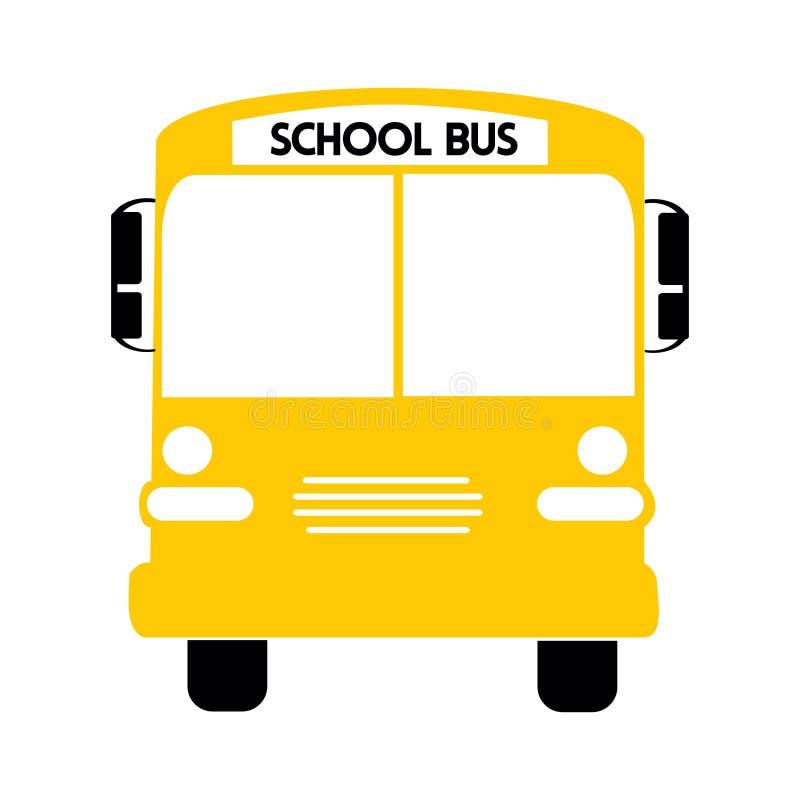 Vector amarillo del ejemplo del autob?s escolar libre illustration