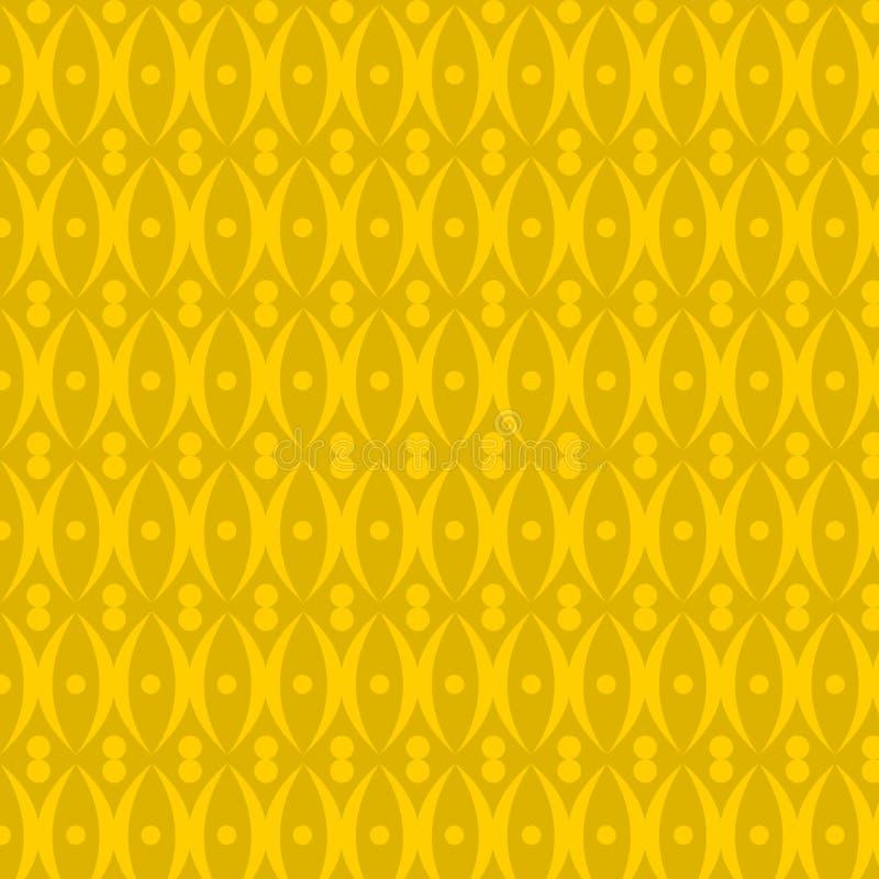 Vector amarillo del fondo del modelo ilustración del vector
