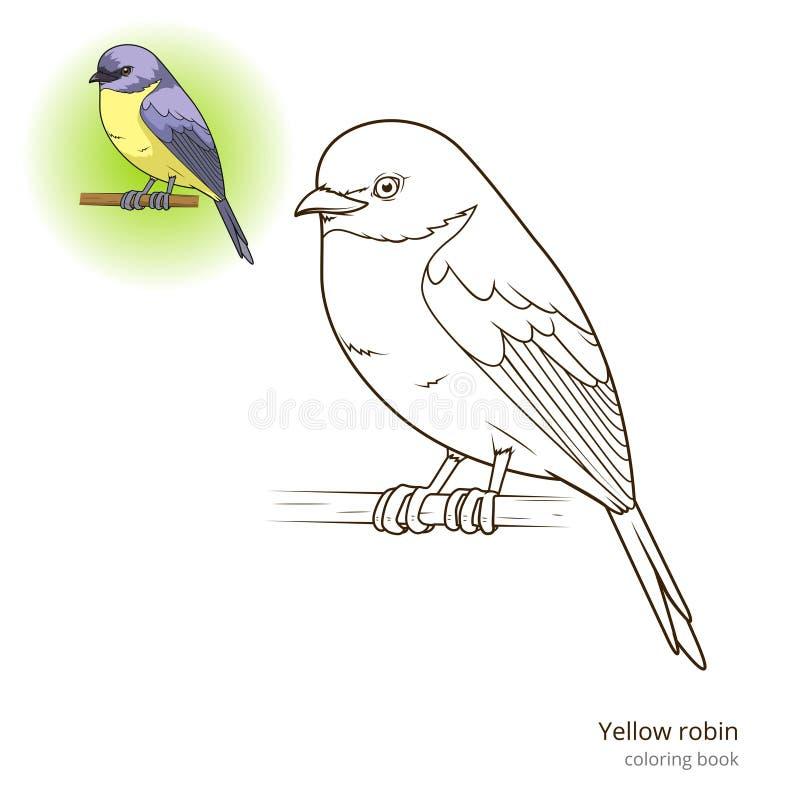 Vector amarillo del libro de colorear del pájaro del petirrojo libre illustration