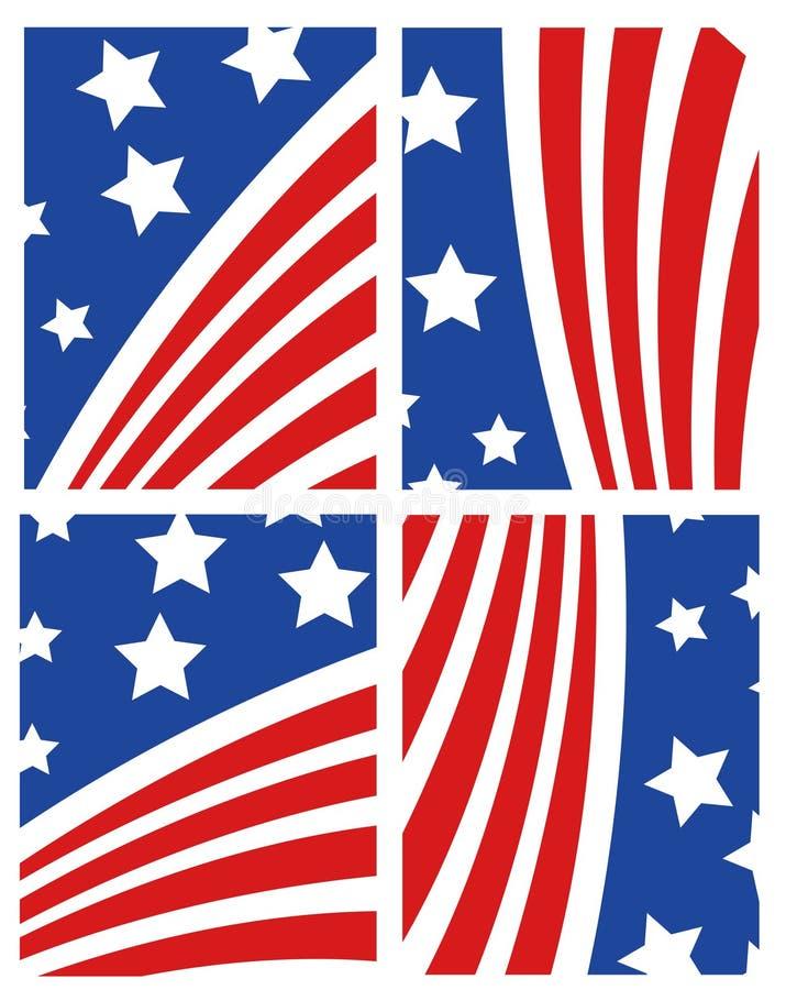Download Vector American Flag Set stock vector. Illustration of american - 14791452