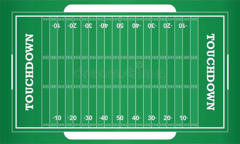 Vector american football field. Stock vector american football field isolated and available EPS10 royalty free illustration