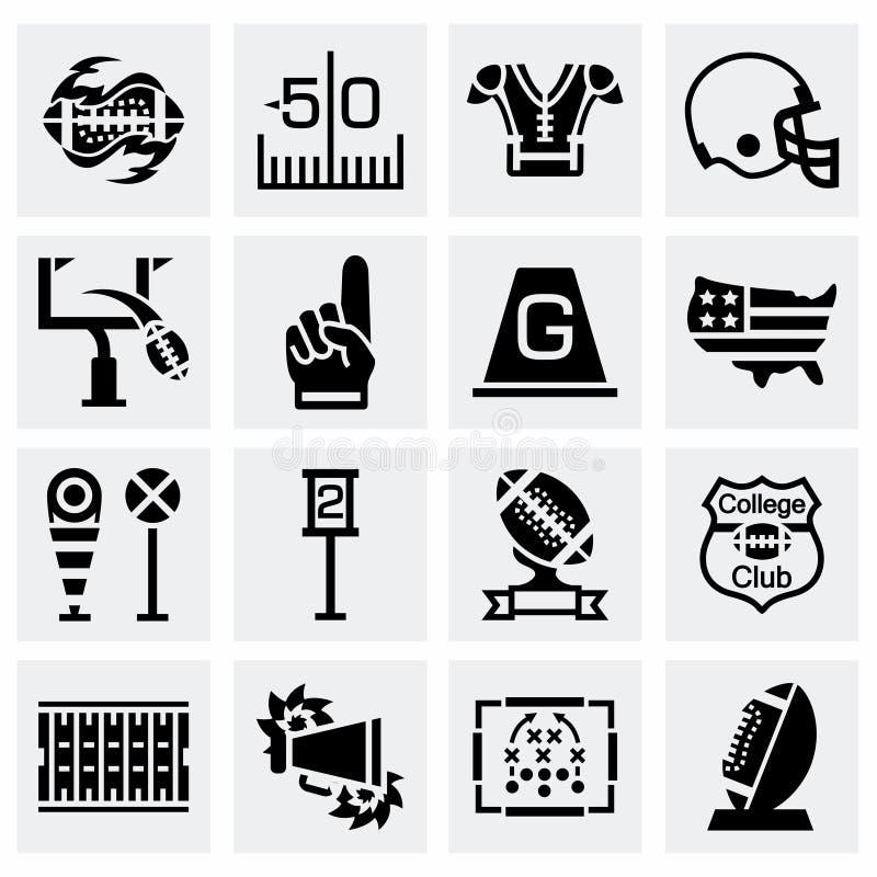 Vector American football icon set vector illustration