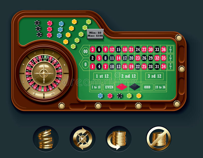 Vector american roulette table layout royalty free stock for Table 30 personnes