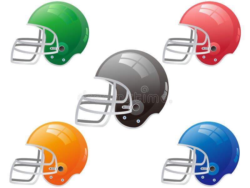 Vector americano del casco de fútbol americano ilustración del vector