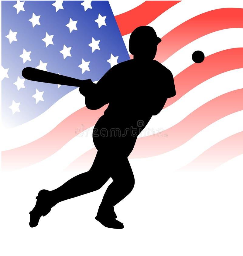 Vector americano del jugador de béisbol ilustración del vector