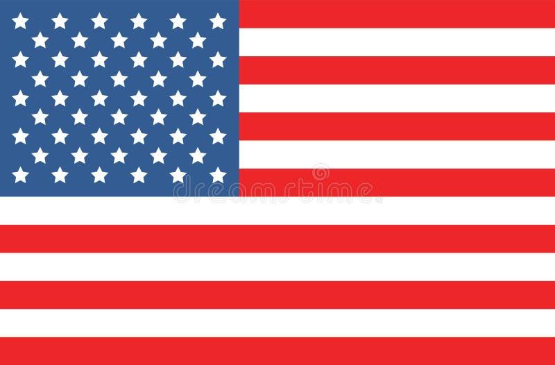 Vector Amerikaanse vlag royalty-vrije illustratie