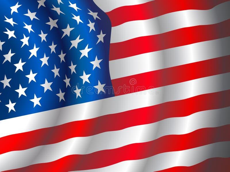 Vector Amerikaanse vlag vector illustratie