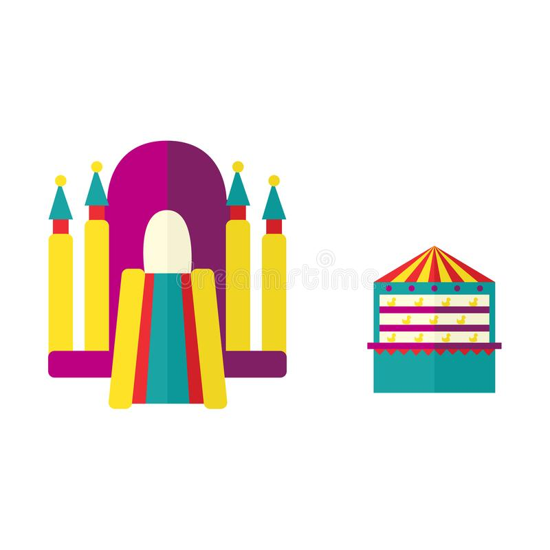 Free Vector Amusement Park Objects Icon Set Royalty Free Stock Photo - 101286825