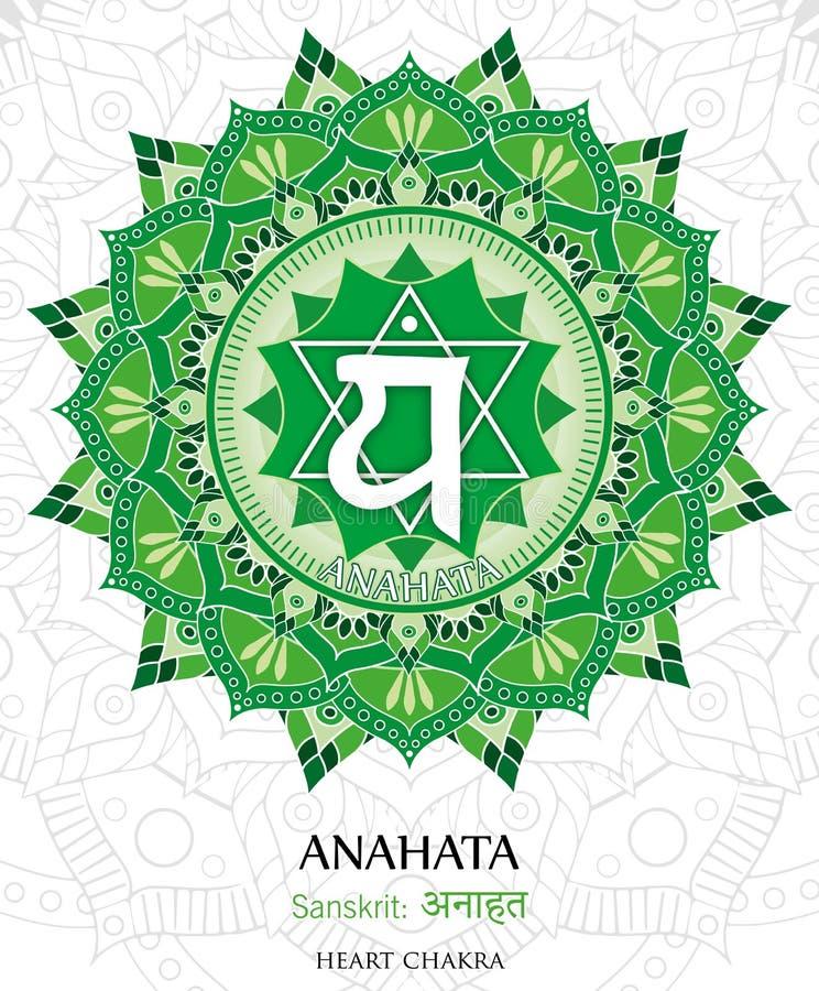 Vector of Anahata chakra vector illustration