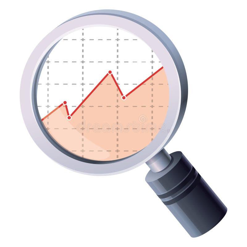 Vector Analyticskonzept lizenzfreie abbildung