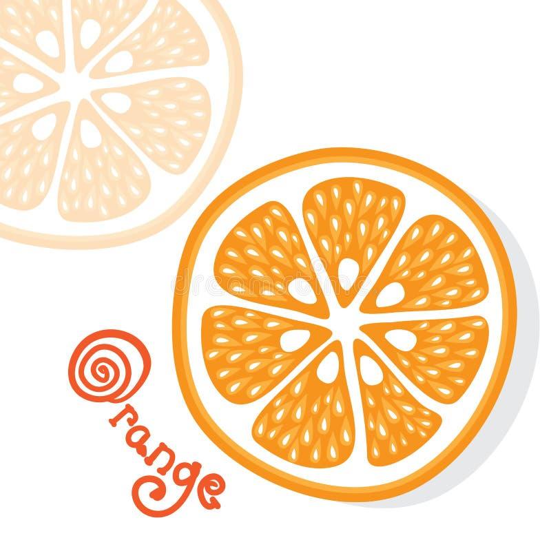 Vector anaranjado de los agrios ilustración del vector