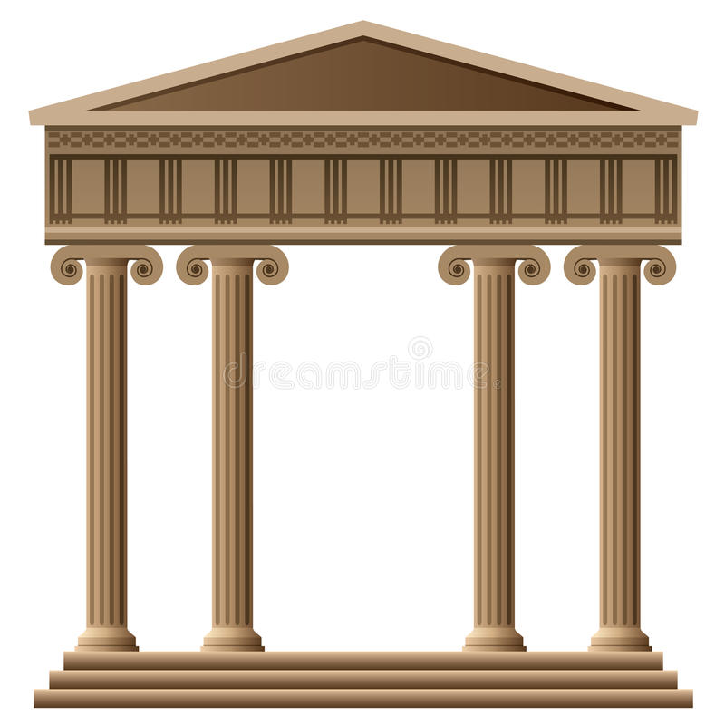 vector ancient greek architecture royalty free illustration