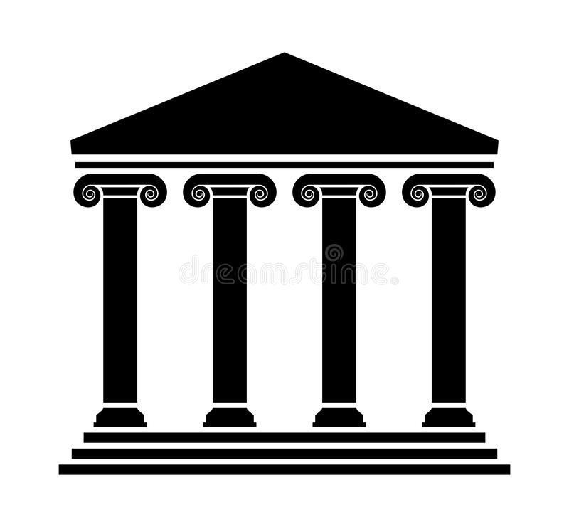 Vector ancient greek architecture with columns stock illustration
