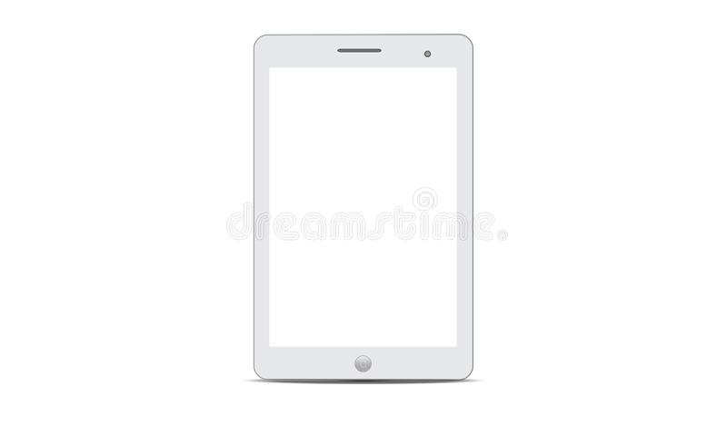 Vector Android Ipad Realistic Android Tablet. Illustration of realistic tablet android touch screen electronic devices. Realistic mock up or ipad icon sign logo vector illustration