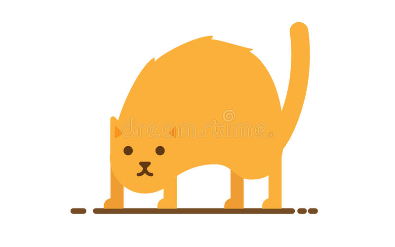 Vector angry cat stock illustration