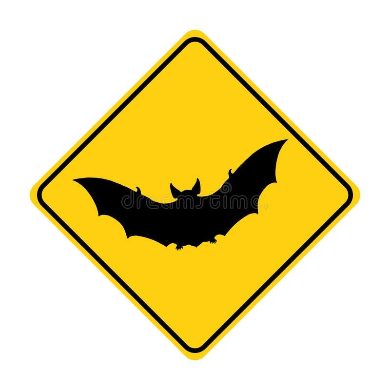 Vector animal del amarillo de la señal de tráfico de la silueta del palo ilustración del vector