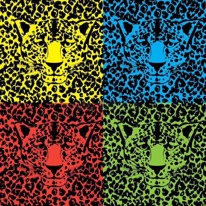 Vector animal inconsútil del modelo de la piel imagenes de archivo